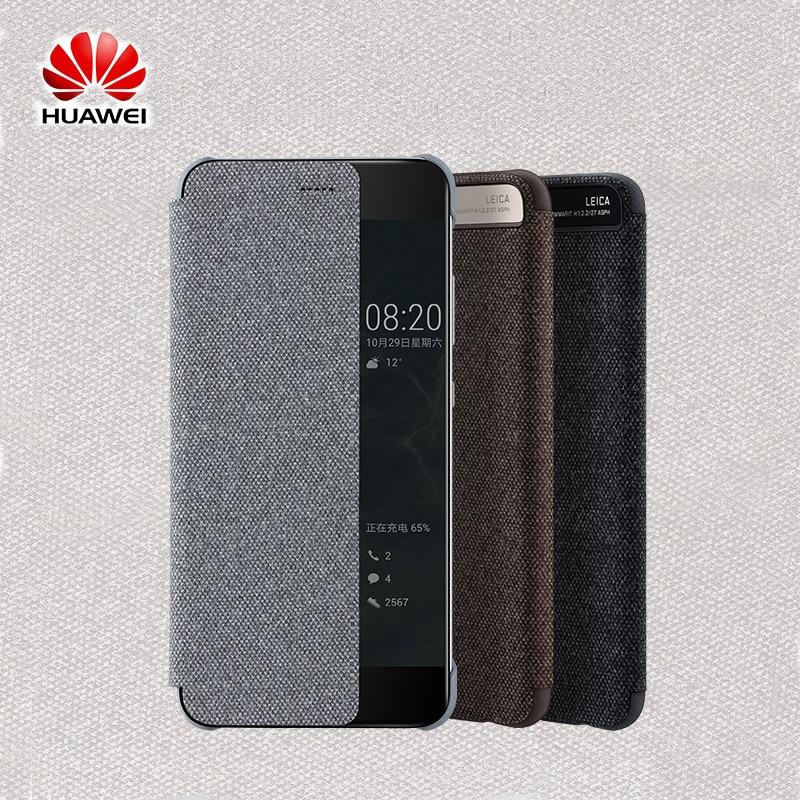 imágenes para 2017 Nueva Original Huawei Oficial P10 P10 Más Inteligente Del Tirón Del Cuero caso View Window Sleep Wake Up Cubierta para P10 P10 Plus