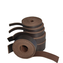 Deep coffee double-sided light head layer pure leather necklace rope pendant clothing accessories belt