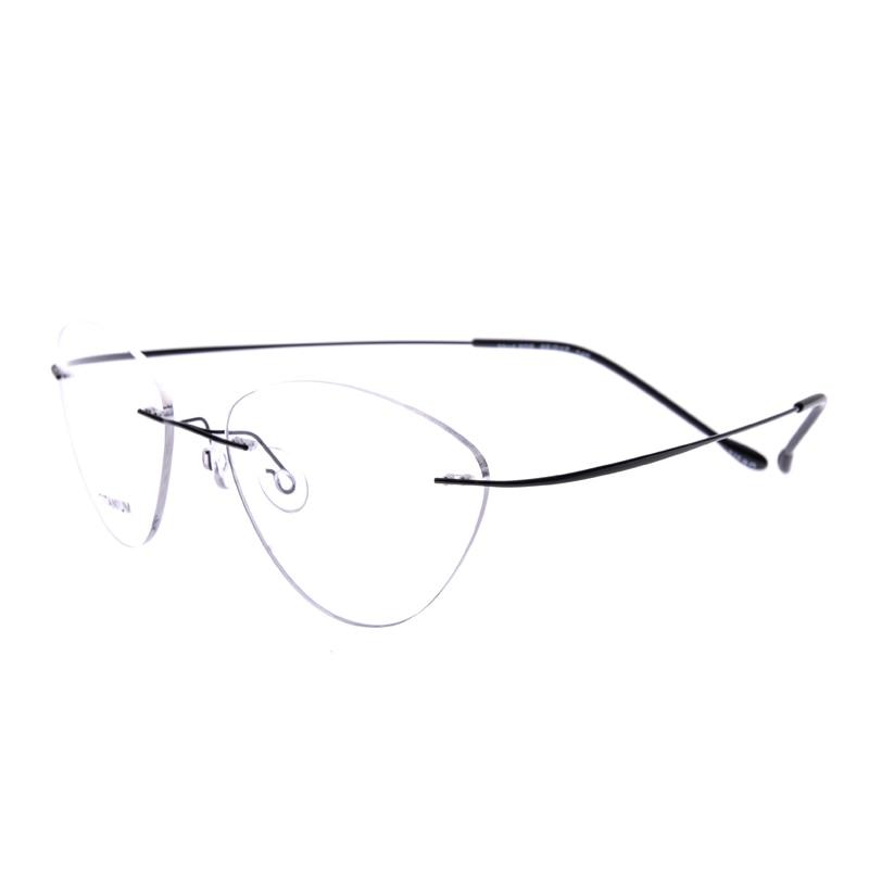 2017 New Titanium Rimless Brand Ultra Light Glasses Frame ...