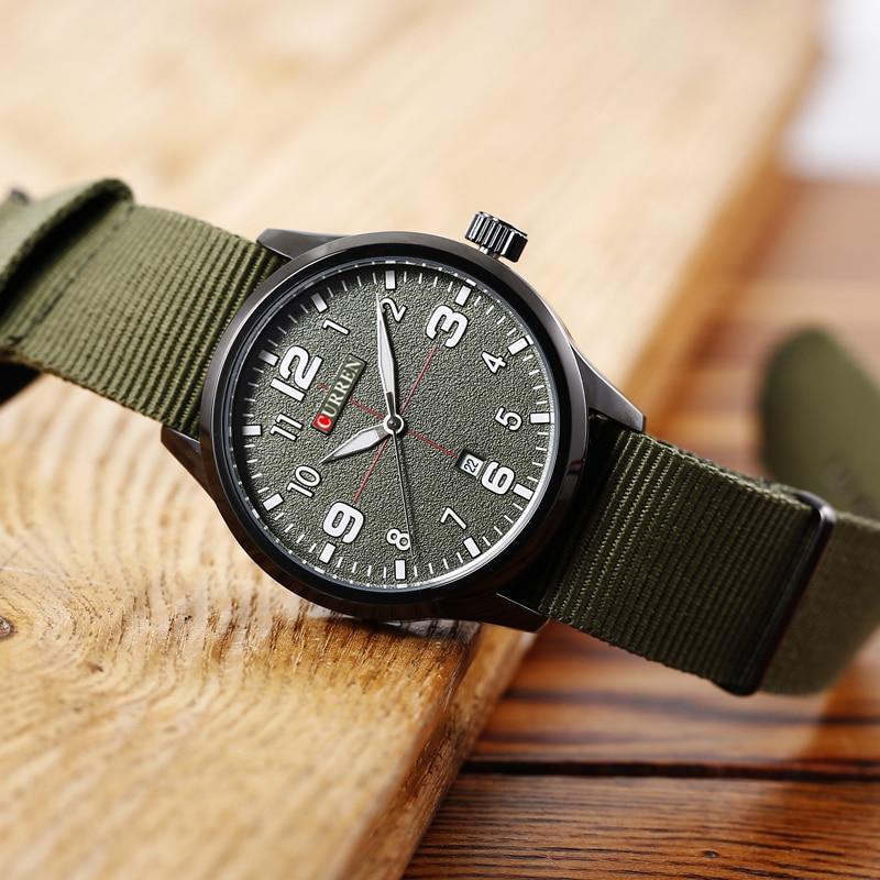 Neue Curren Uhren Herren Top Marke Luxus Herren Nylon Armband - Herrenuhren - Foto 4