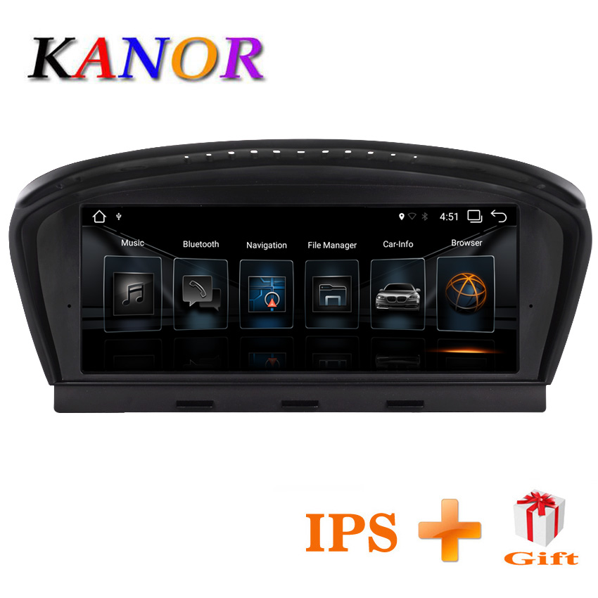 KANOR 8.8 pouces 2g + 32g Android 7.1 autoradio lecteur multimédia pour BMW 5 Série E60 E61 e63 E64 E90 E91 E92 CCC CIC système
