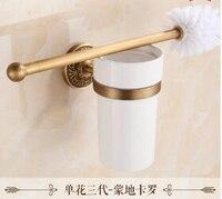 Venta caliente Material de Cobre Antiguo Tipo Durable Soporte Para Cepillo De Limpieza Wc Cepillo Titular de Ajuste para el Baño