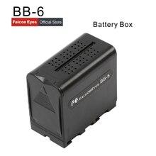 الصقر عيون 6 قطعة AA بطارية حزمة الطاقة العمل مثل NP F970 ل LED الفيديو الضوئي لوحة أو رصد YN300 II DV 160V BB 6