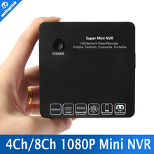 Super Mini NVR 4CH 8CH PARA Full HD IP Network Camera Video Recorder 1080 P/960 P/720 P NVR Onvif HDMI E-SATA USB de la Ayuda
