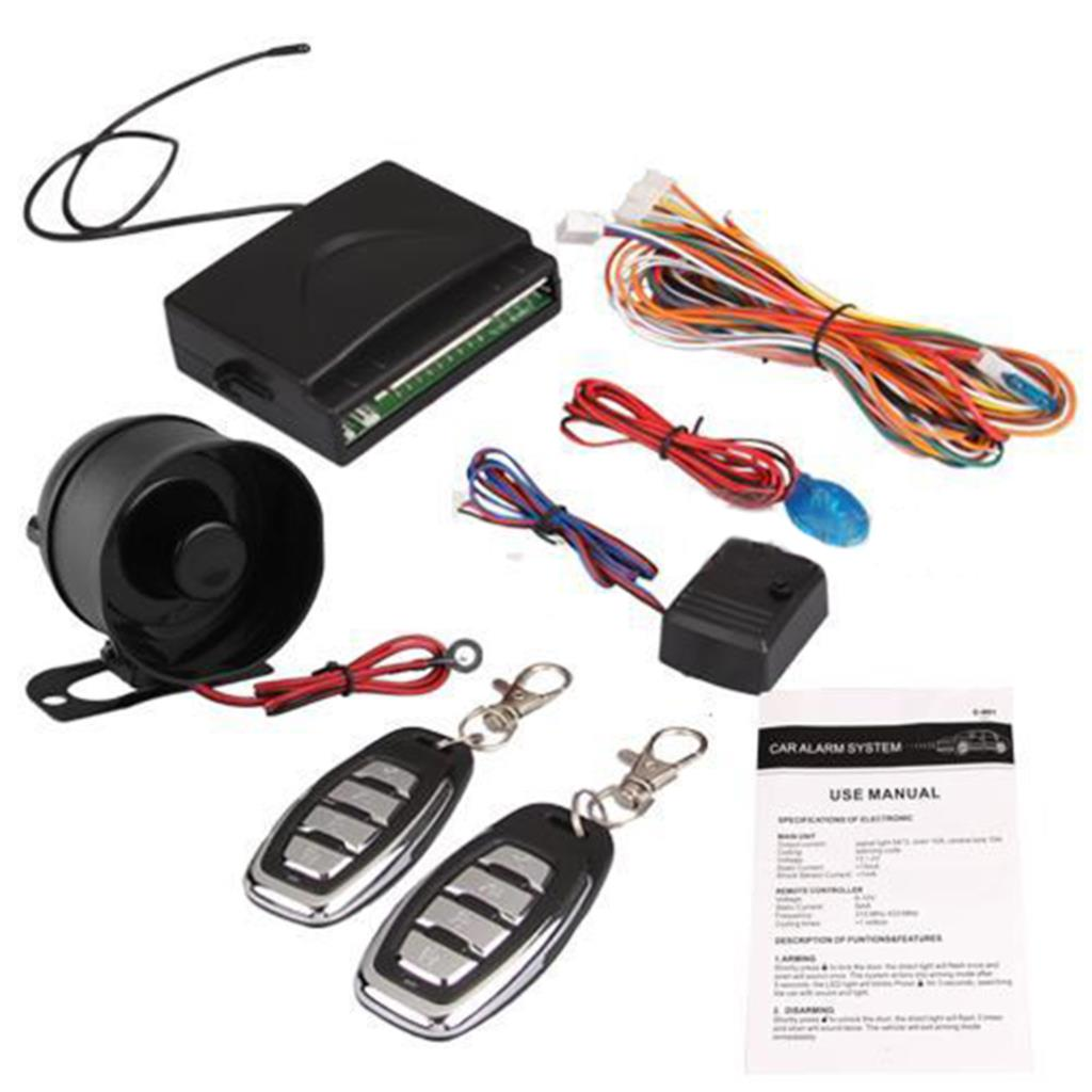Hot universal car alarm security system siren keyless entry system kit remote control central lock 2