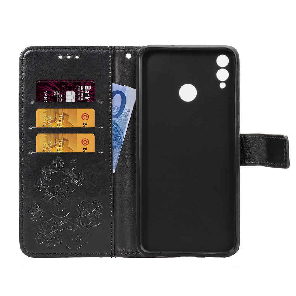 Чехол для телефона Huawei Honor 8 8C 8X MAX откидная задняя крышка из искусственной кожи силиконовый чехол с пленкой стеклянный кошелек смартфон Coque Funda