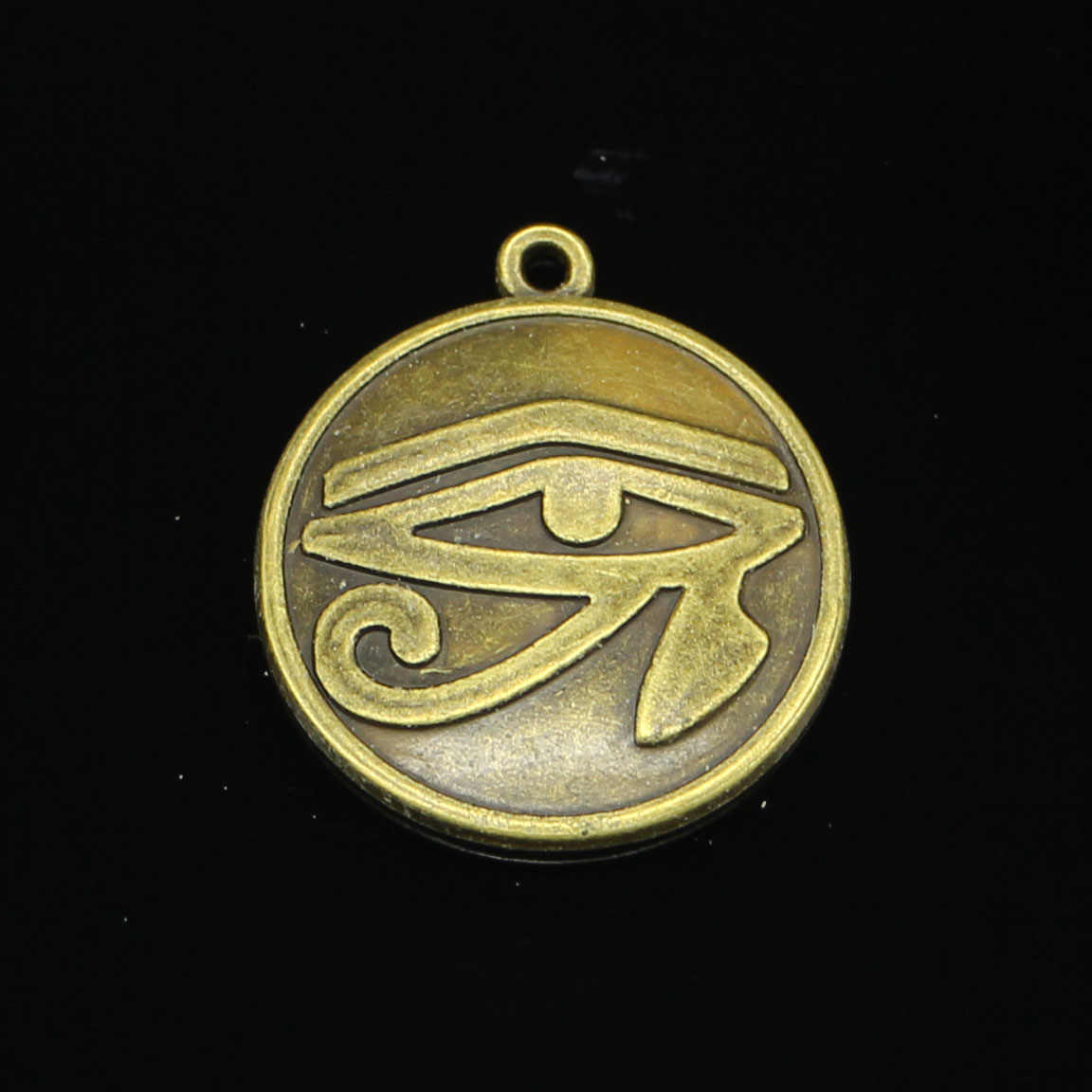 27pcs Antique Bronze Plated eye of Horus Charms for Jewelry Making DIY Handmade Pendants 27mm