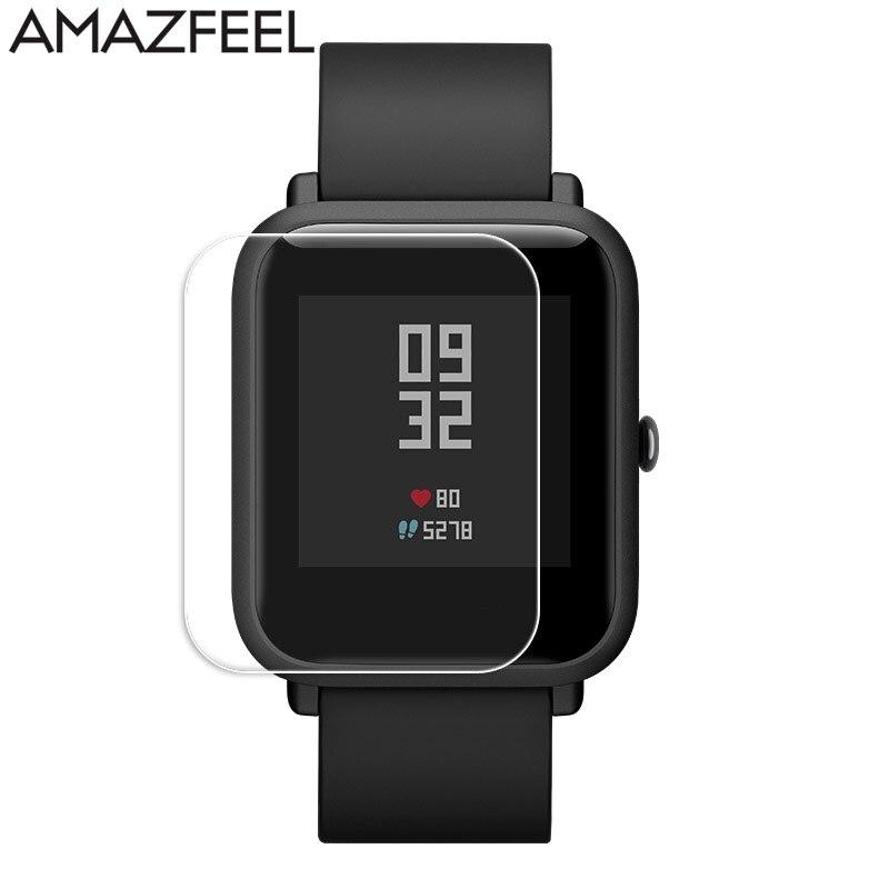 100 unidades/pacote Para Xiaomi Huami Amazônia Amazônia Bip Bip Pouco Filme Protetor de Tela HD Film Anti Risco Tela relógio Inteligente -prova