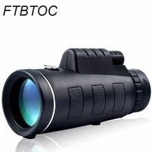 цена на Telescope 40X60 Monocular Low Light Night Vision HD Portable Outdoor Hunting Camping Bird Watching Travelling Telescope