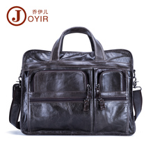 JOYIR 100% Genuine Leather Men Briefcases Casual Business Bags Tote Bag Large Handbags Shoulder Bags Crossbody Bag Men Gift 9913