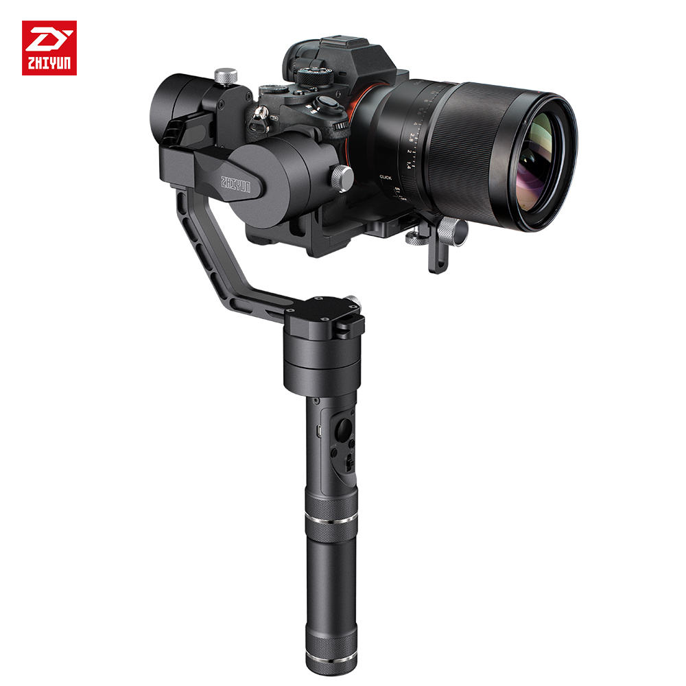 zhi yun Zhiyun Official Crane V2 3-Axis Handheld Gimbal Stabilizer for Mirrorless DSLR Camera Payload 350g to 1800g yuneec q500 typhoon quadcopter handheld cgo steadygrip gimbal black