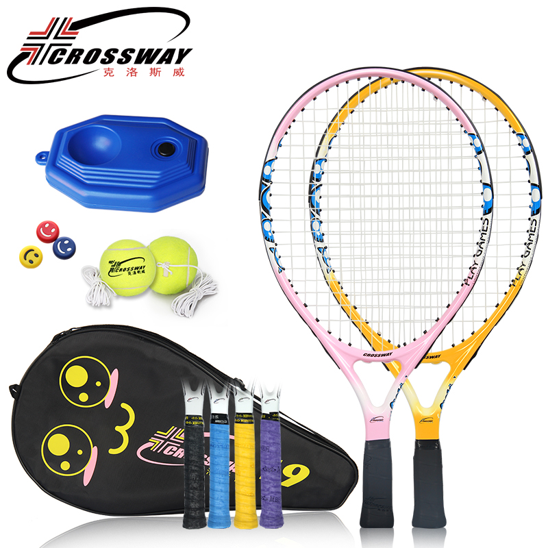 CROSSWAY  Child Tennis Racket Set Kids 9/21/23 Inch Racquet Childrens Ultra Light Carbon Bat Toddler Set 0-12 Years