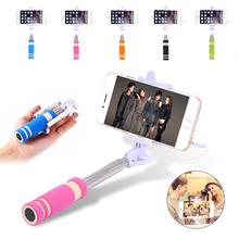 Mini Wired Extendable Foldable Stainless Selfie Stick Monopod Self pole For iPhone Sony HTC LG Samsung