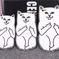3D Смазливая Мультфильм Животных Средний Палец Cat Телефон Случаях Для iPhone 5 5s Se 6 6 s 6 Плюс 7 7 Плюс Мягкий Силиконовый Розовый Чехол Funda Coque