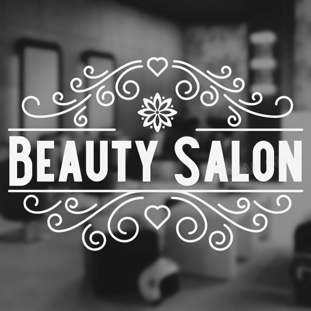 Beauty Quote Wall Sticker Barber Shop Nail Art Design Manicure Salon Wall Decal Vinyl Home Decor Sofa Background Decals Z723