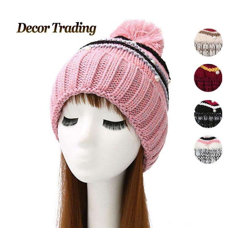 NEW Velvet Knitted Hat Women Winter Hat For Women Hat Fashion Warm Skullies Beanies Female Cap Free Shipping