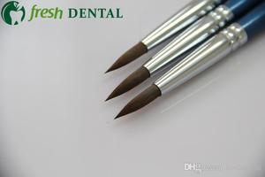 Image 5 - 3PCS Dental 8# Sable porcelain pen dental glaze on porcelain pen dental technician calligraphy brush porcelain pen SL512