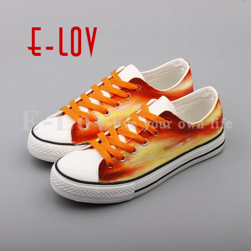 E-LOV 2017 Luxury Brand Women Canvas Shoes Dream Graffiti Casual White Shoes Flat Espadrilles zapatos de mujer e lov new arrival luminous canvas shoes graffiti pisces horoscope couples casual shoes espadrilles women