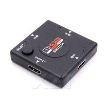 1 sztuk 3 wejście 1 wyjście Mini 3 portowy przełącznik HDMI przejsciówka Box Selector dla HDTV 1080P Vedio HDMI KVM Switcher NEW HOT