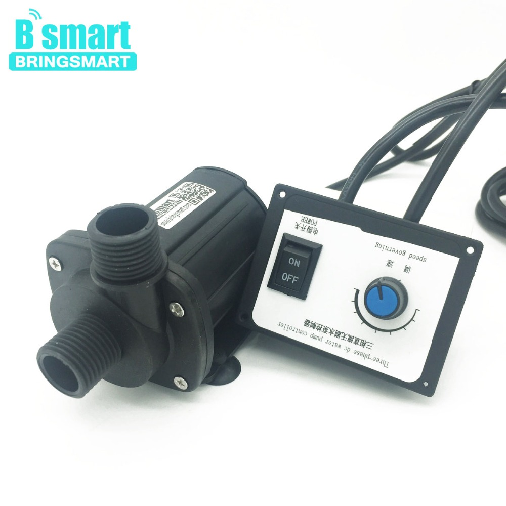 Bringsmart JT-1000B3 3000L/H 7M High Flow Rate 12V DC Brushless Booster Water Pump 24V Submersible Pump with Speed Controller bringsmart jt 280at 12v dc brushless submersible water pump 24v circulating computer cooling pumps free shipping