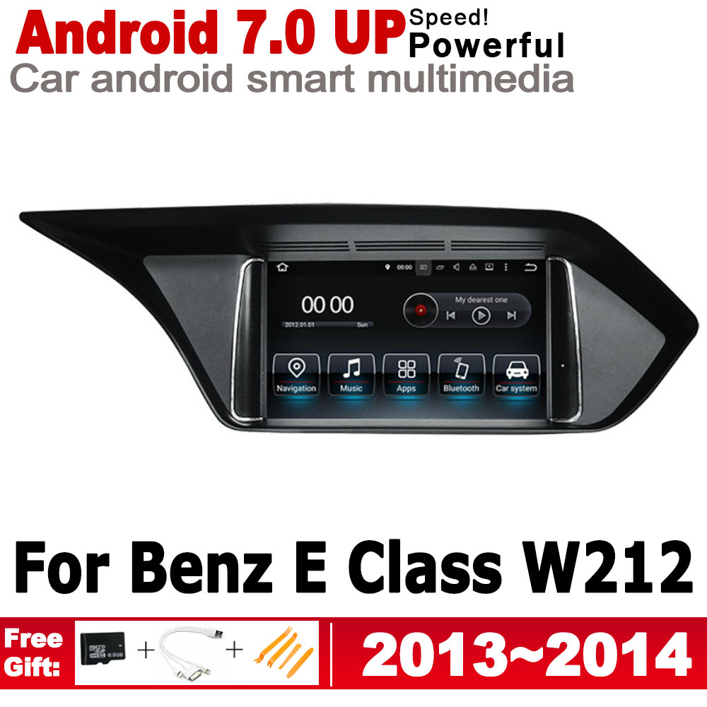 IPS Android 7.0 up car <font><b>multimedia</b></font> player gps navigation for Mecerdes Benz E <font><b>W212</b></font> 2013~2014 NTG original style HD screen WiFi BT image