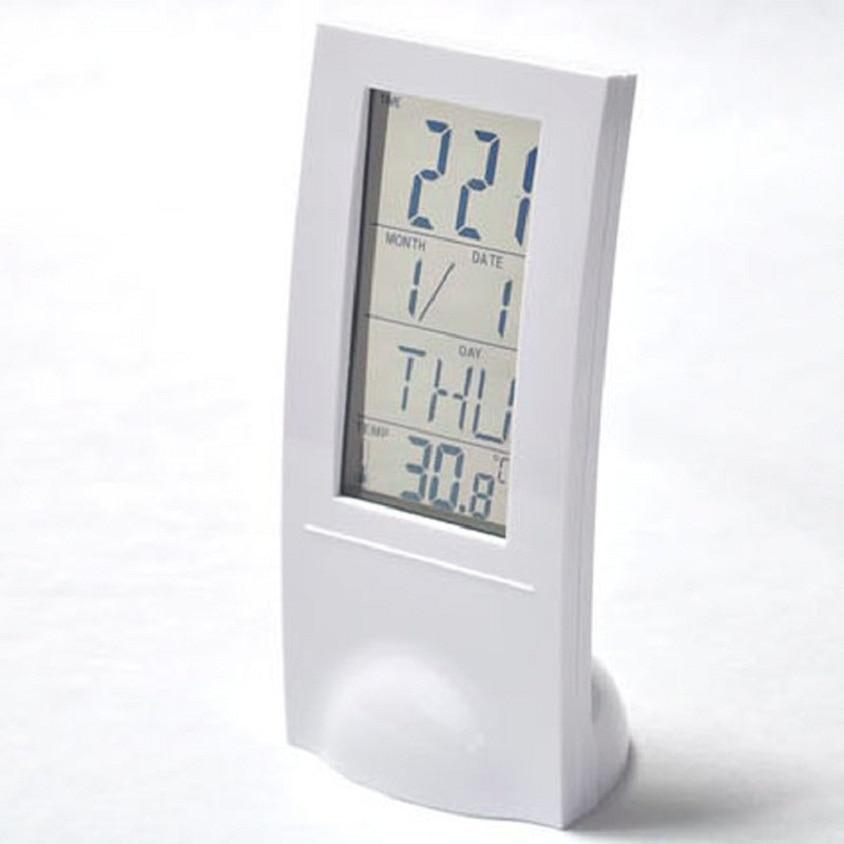 2017 Popular Transparent LCD Digital Lndoor Temperature Meter Calendar Gauge Clock Hot-sale Drop Shipping May24