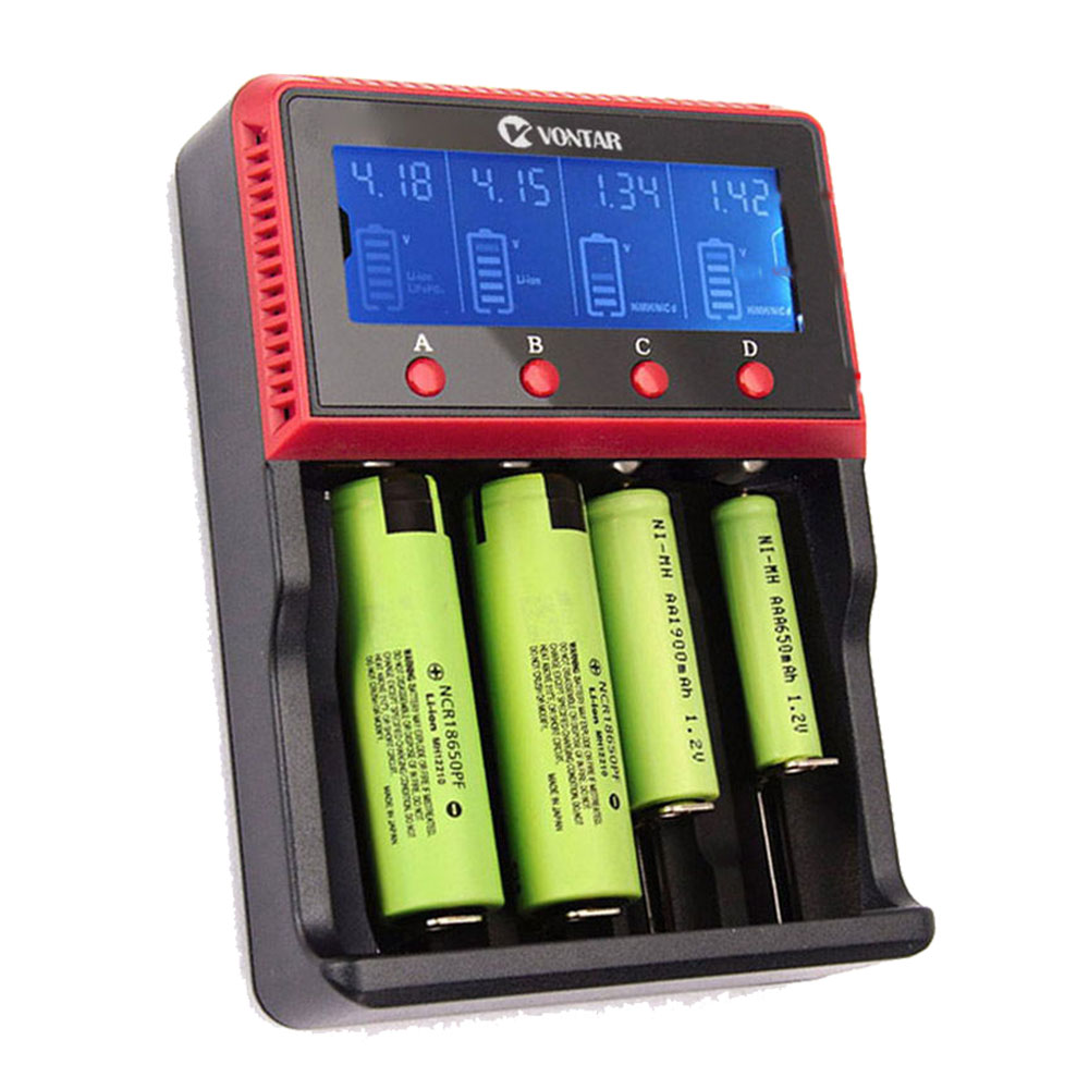 VT4 VT2 plus LCD Battery Charger 12V 24V Rechargeable Battery For LI-ion NiMH Ni-CD AA AAA AAAA 26650 14500 22650 18650 PK D4 D2