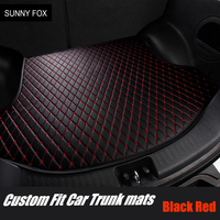 Custom fit Car trunk mats cargo Liner for Toyota Crown 12th 13th 14th generation 6D heavy duty car styling rugs carpet floor lin