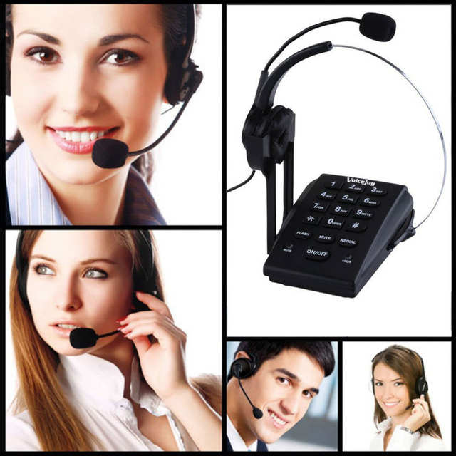 Promotion!!! Call Center Dialpad Headset Telephone with PC