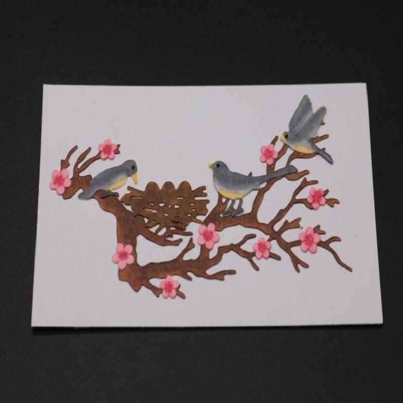 Glita Creatif bird metal cutting dies for scrapbooking albulm photo decorative new metal die cuts new arrivals stamps and dies