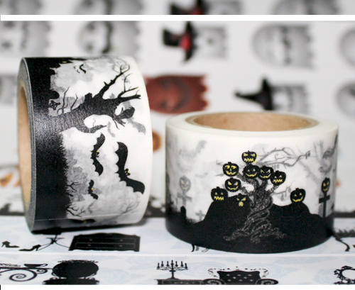 Beautiful high quality 30mm*10m halloween  washi  tape/halloween view diy and masking japan washi tape