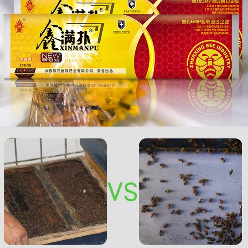 20 Strips Mites Beekeeping Medication Control Professional Bee Acaricide Beekeeping Medicine Bee Varroa Killer Medicine For Bee