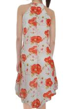 Vintage V-neck Floral Print Chiffon Dress Women Spring High Elastic Waist A-line Female Midi Vestidos 2019 Quality