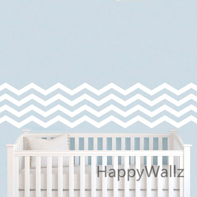 DIY Chevron Wall Sticker Chevron Stripe Wall Decals Modern Mural Wallpaper  Removable Easy Wall Art Stickers