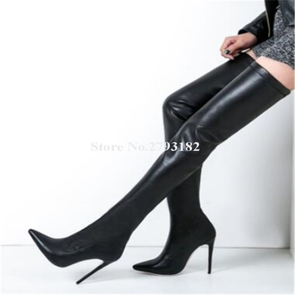 Rousmery Classical Style Pointed Toe Over Knee Thin Heel Boots Red Beige Black Bandage Long High Heel Boots Dress ShoesRousmery Classical Style Pointed Toe Over Knee Thin Heel Boots Red Beige Black Bandage Long High Heel Boots Dress Shoes