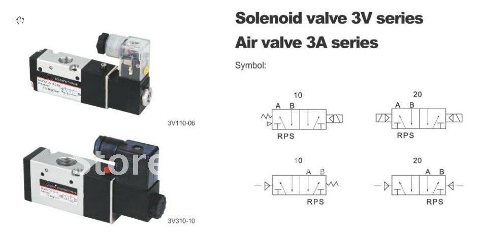 цена на 3V420-15 AC110V 3Port 2Pos 1/2 BSPT Solenoid Air Valve Double Coil Led Light