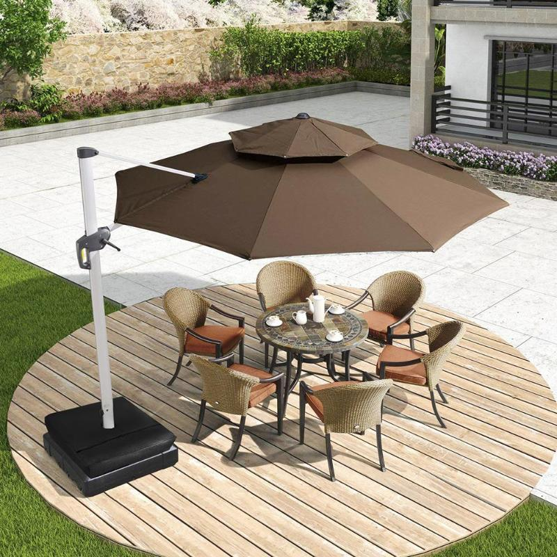 Us 10 05 30 Off 1 Pcs Black 18x18in Square Weight Sand Bag For Outdoor Patio Sunshade Parasol Umbrella Base Garden Supplies Shade Accessories In