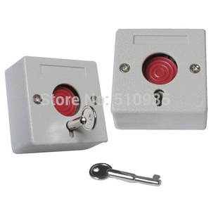 Panic-Button-Switch Home-Alarm-Products for 2pcs/Lot Key-Reset PB68 Emergency