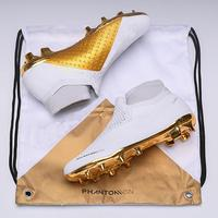 Mens High Ankle Football Boots Sports Phantom VSN Elite DF FG Soccer Shoes x J x PSG Phantom Vision FG Outdoor Soccer Cleats