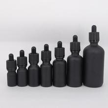 6 шт. 100 мл 50 мл 30 мл 20 мл 15 мл 10 мл 5 мл матовая черная стеклянная бутылка-капельница для эфирного масла эфирные флаконы