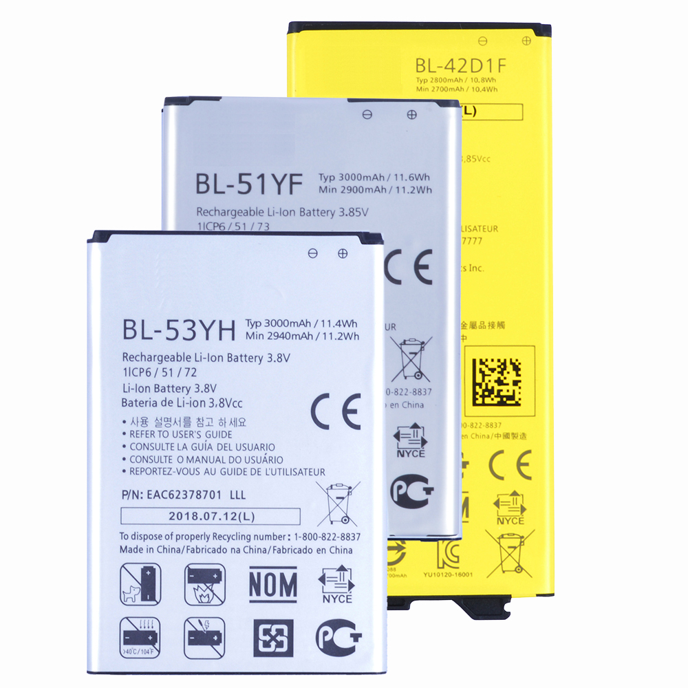 1pcs Original Conenset BL-53YH BL-51YF BL-42D1F Battery For <font><b>LG</b></font> G3 G4 <font><b>G5</b></font> Mobile phone battery Real High Capacity <font><b>Bateria</b></font> image