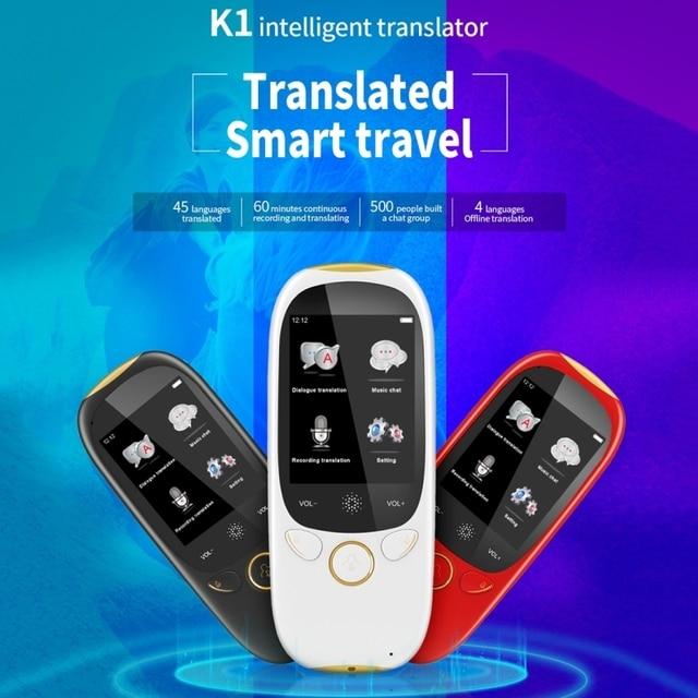 Boeleo K1 2.0 Inch Màn Hình Tiếng Nói Dịch Giả Thông Minh Kinh Doanh Du Lịch Ai Dịch Máy 512MB + 4GB 45 Ngôn Ngữ dịch Giả