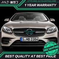 AKD Car LED Emblem for Mercedes Benz GLE W166 X205 GLC GLS GLE500 LED Star Light DRL FRONT GRILLE LED LOGO Mirror surface