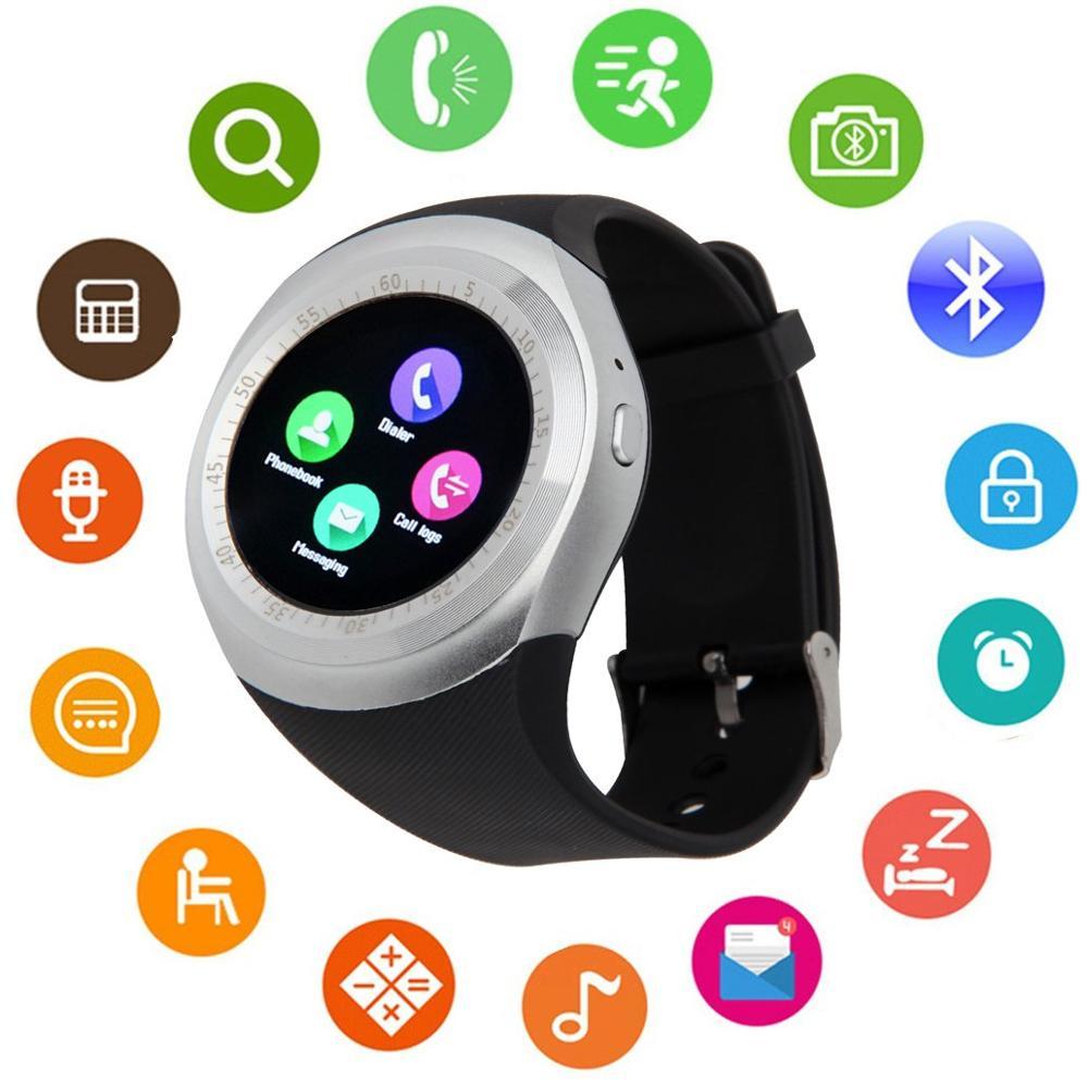 Bluetooth montre intelligente écran tactile DMDG montre de Fitness intelligente écran tactile débloqué montre téléphone portable fente pour carte Sim, poignet intelligent Wat