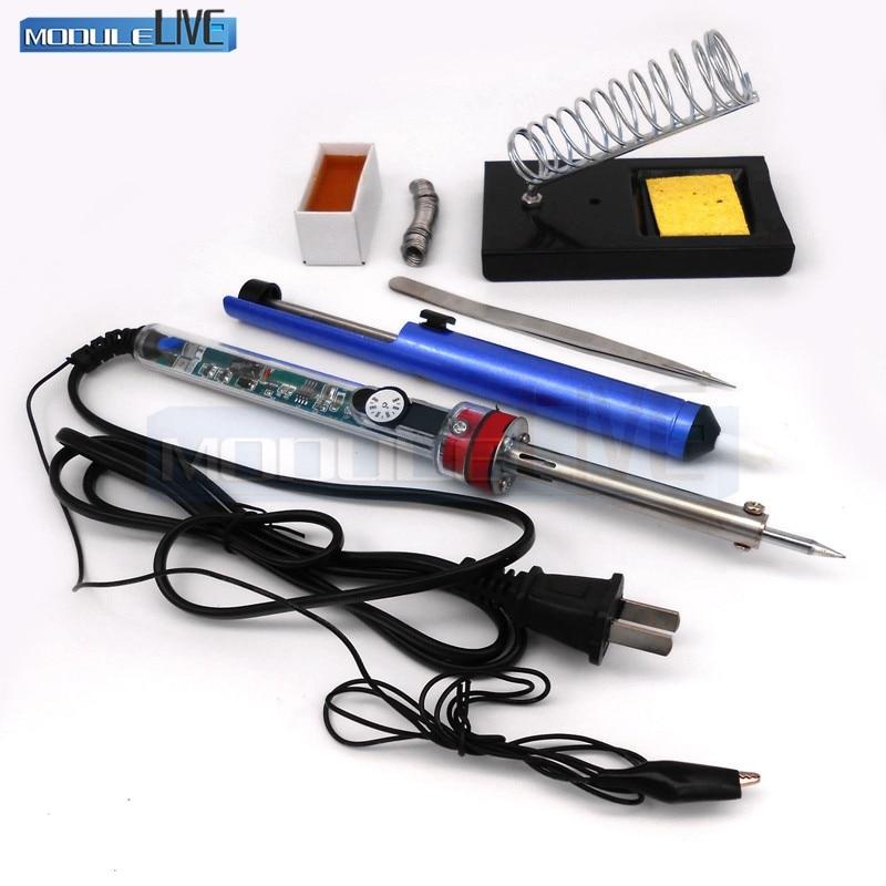 220V 60W Adjustable Electric Temperature Gun 905 Welding Soldering Iron Tool kit 110v 220v 60w adjustable electric temperature gun welding soldering iron tool with tin wire