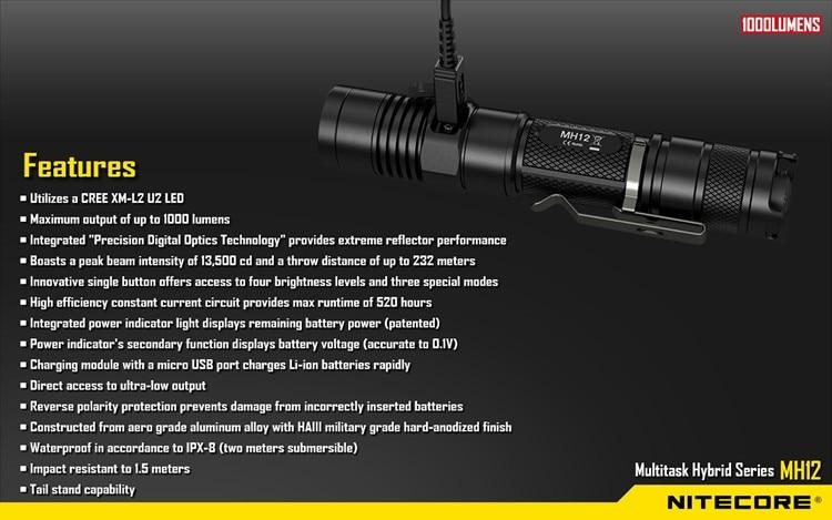 XM-L2 u2 led lanterna recarregável busca resgate