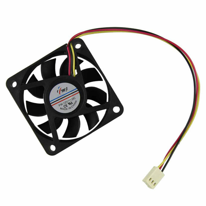60mm PC CPU Cooling Fan 12v 3 Pin Computer Case Cooler Quiet Molex Connector Drop shipping