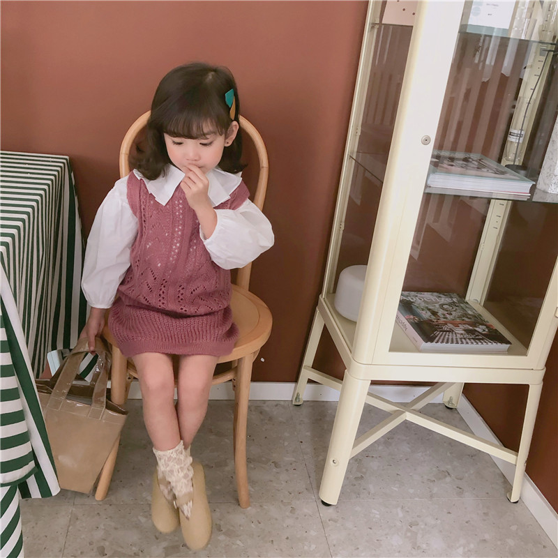 Cheap Sale 2019 Spring New Arrival Korean Style Cotton Clothing Sets Casual Vest With Short Skirt Sweater Suits For Cute Sweet Baby Girls To Win A High Admiration