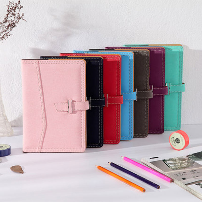 Leather Business Notebooks Stationery office Conference Notes notebook Small Portable Diary Work
