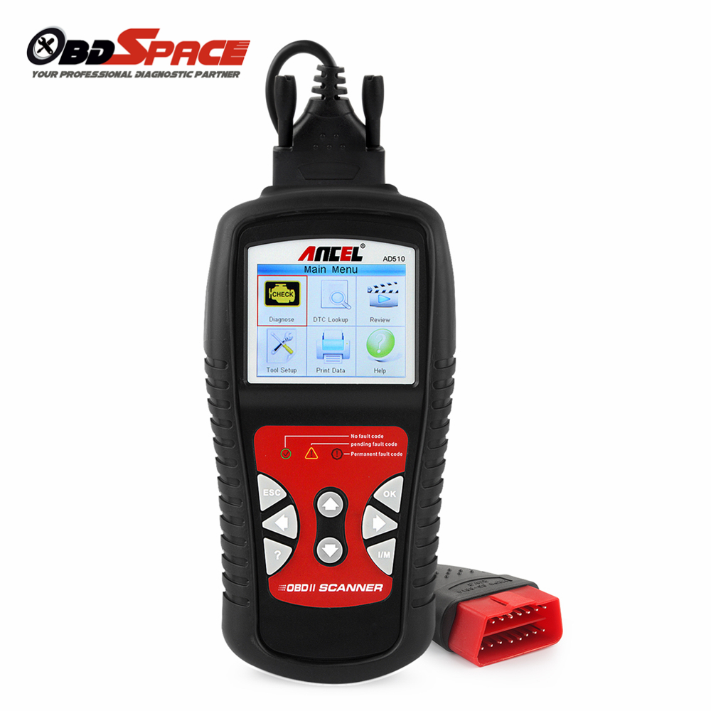 Original Car Diagnostic Scanner ANCEL AD510 OBDII OBD Auto DiagnosticTool Engine Fault Code Reader Update Free Better than MS509 2016 new arrival vs 890 obd2 car scanner scantool obdii code reader tester diagnostic tools 3 inch lcd car detector